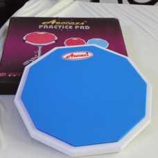 Arborea 12 Inches Silicone material Drum Practice Pad Wooden Base with Real Drum Feel